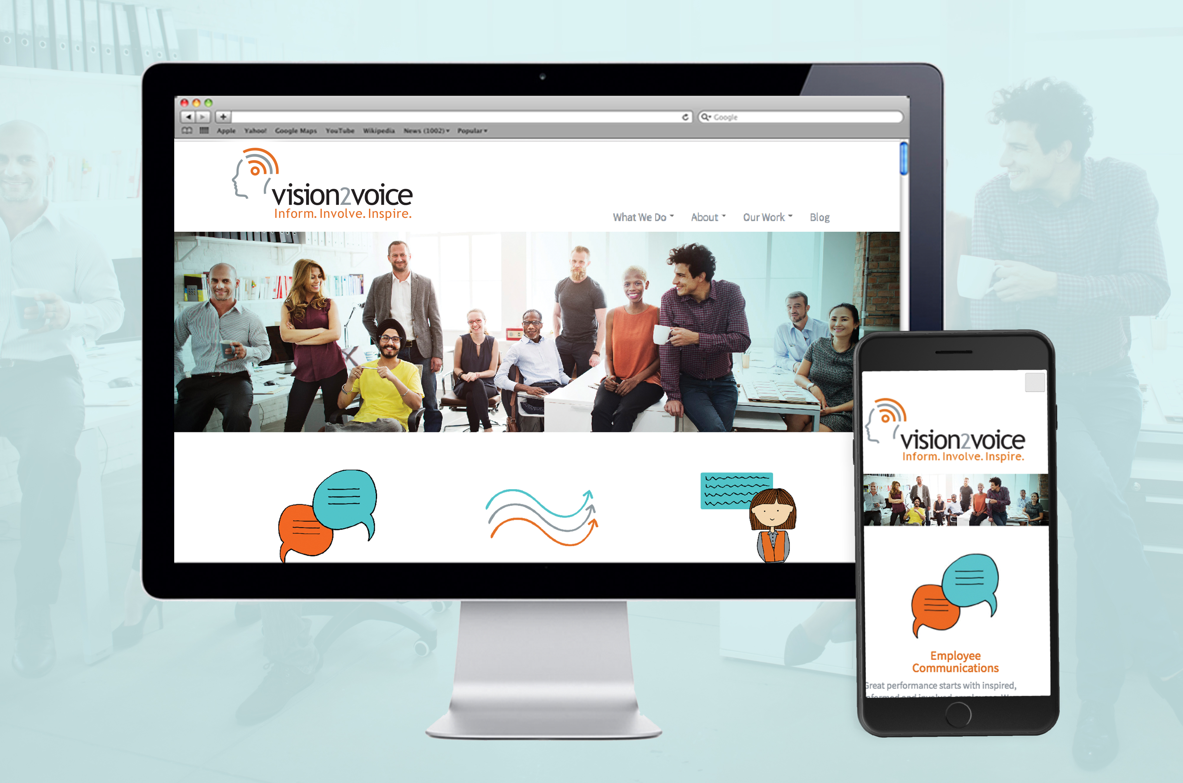 Vision2Voice Website Design