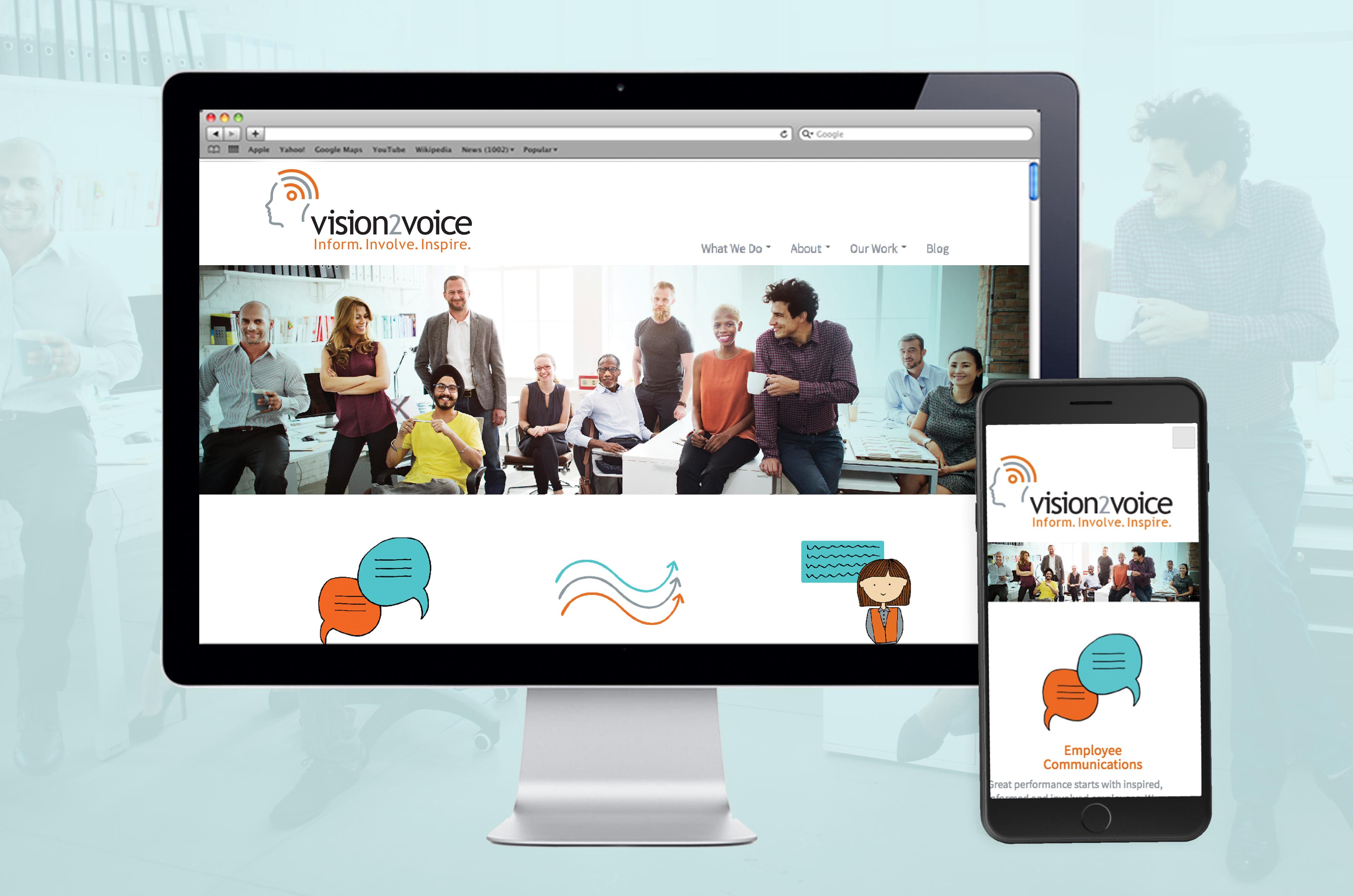 Vision2Voice Website Design